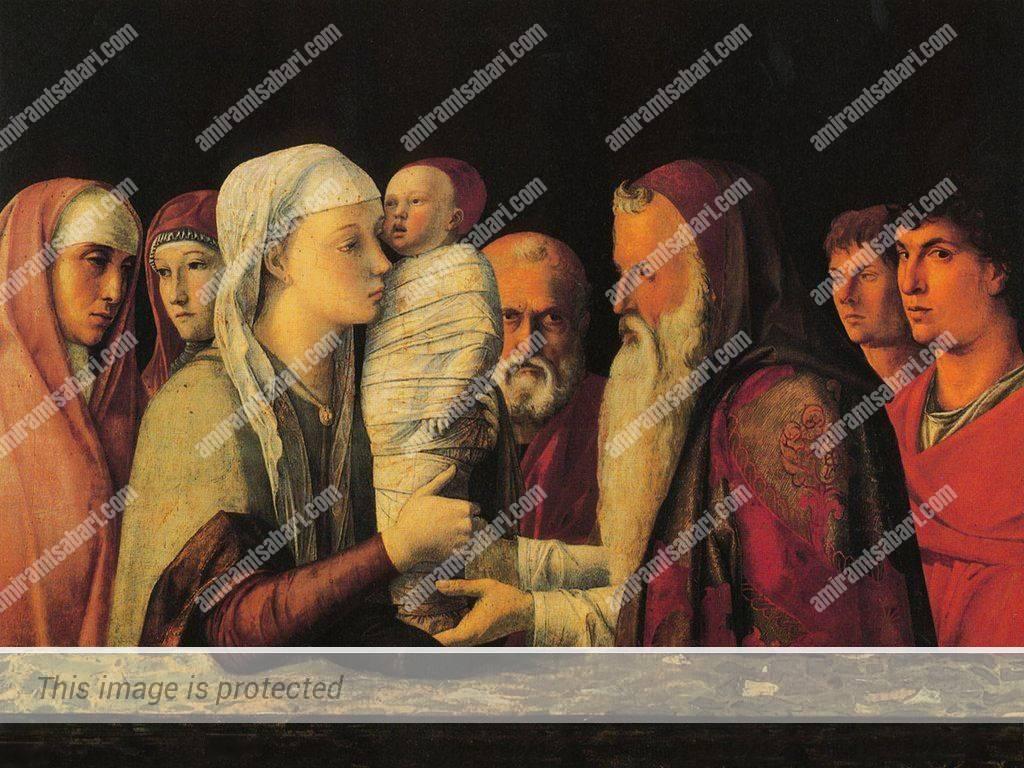 הצגתו של ישוע בבית המקדש. ציור של ג'ובאני בליני – 1460 מוזיאון קווריני סטמפליה - ונציה