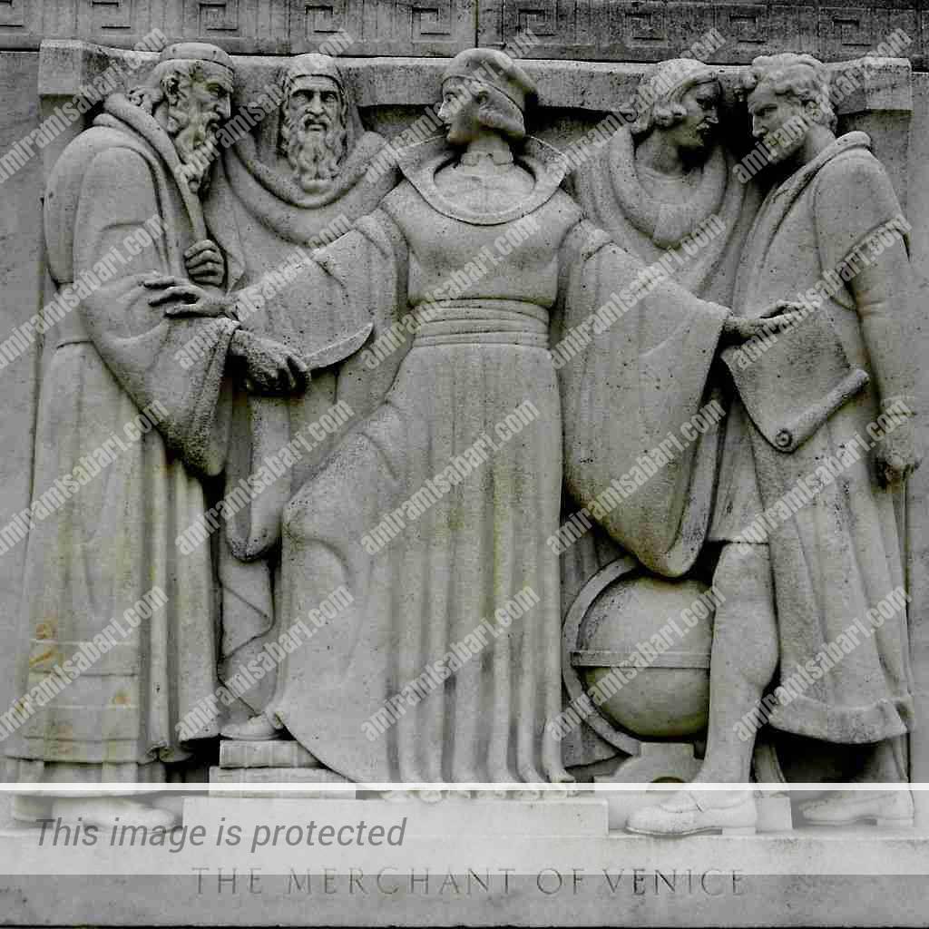 סצינה מתוך הסוחר מונציה של ויליאם שייקספיר