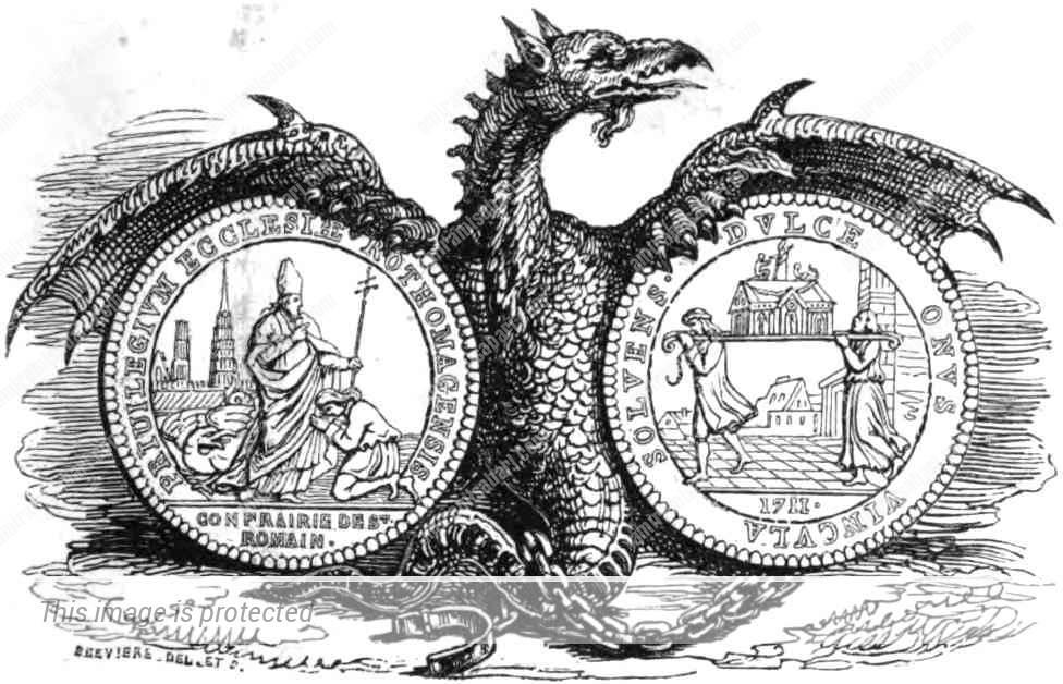 רומאנוס הקדוש והגרגויל - לואי אנרי ברבייר