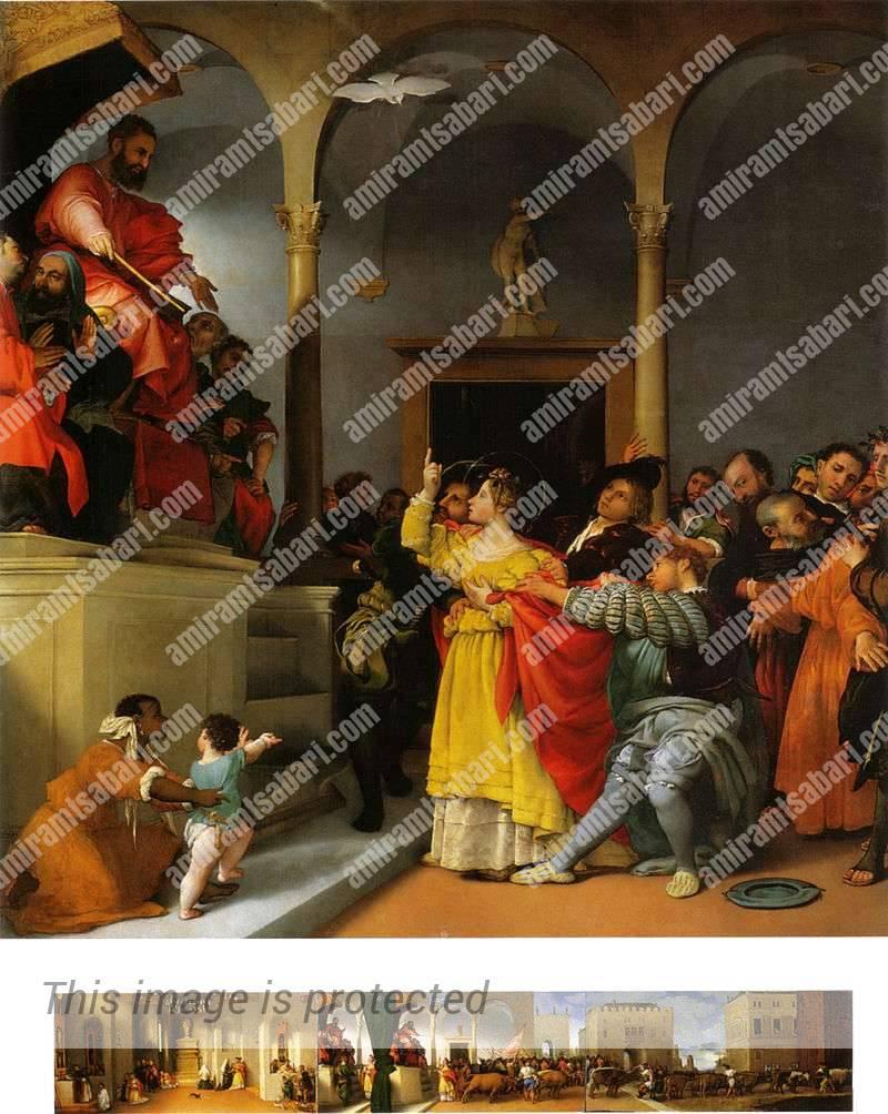 לוצ'יה עומדת בפני השופט פסקאזיוס.