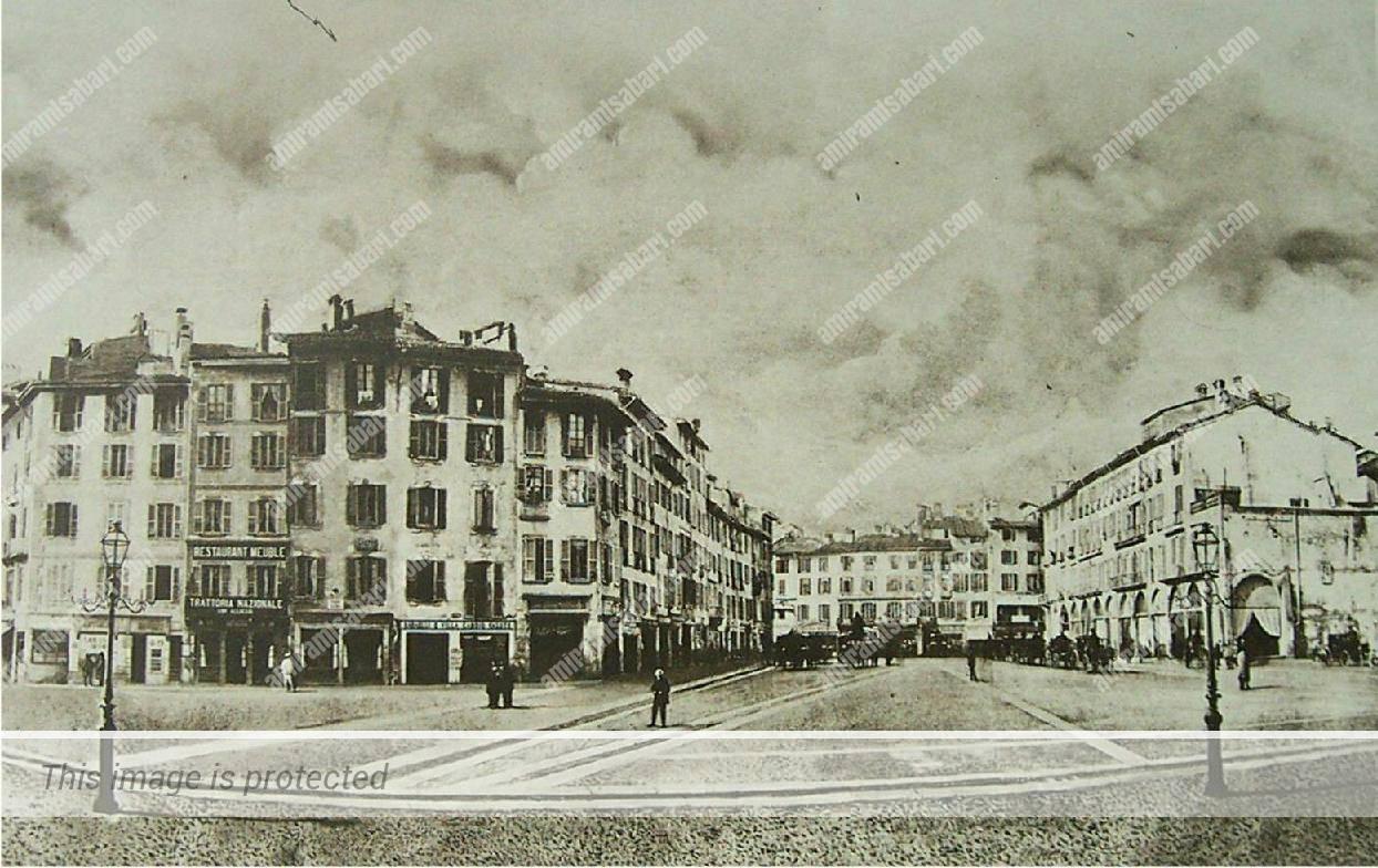 הרחבה שמול פיאצה דואומו, 1860.