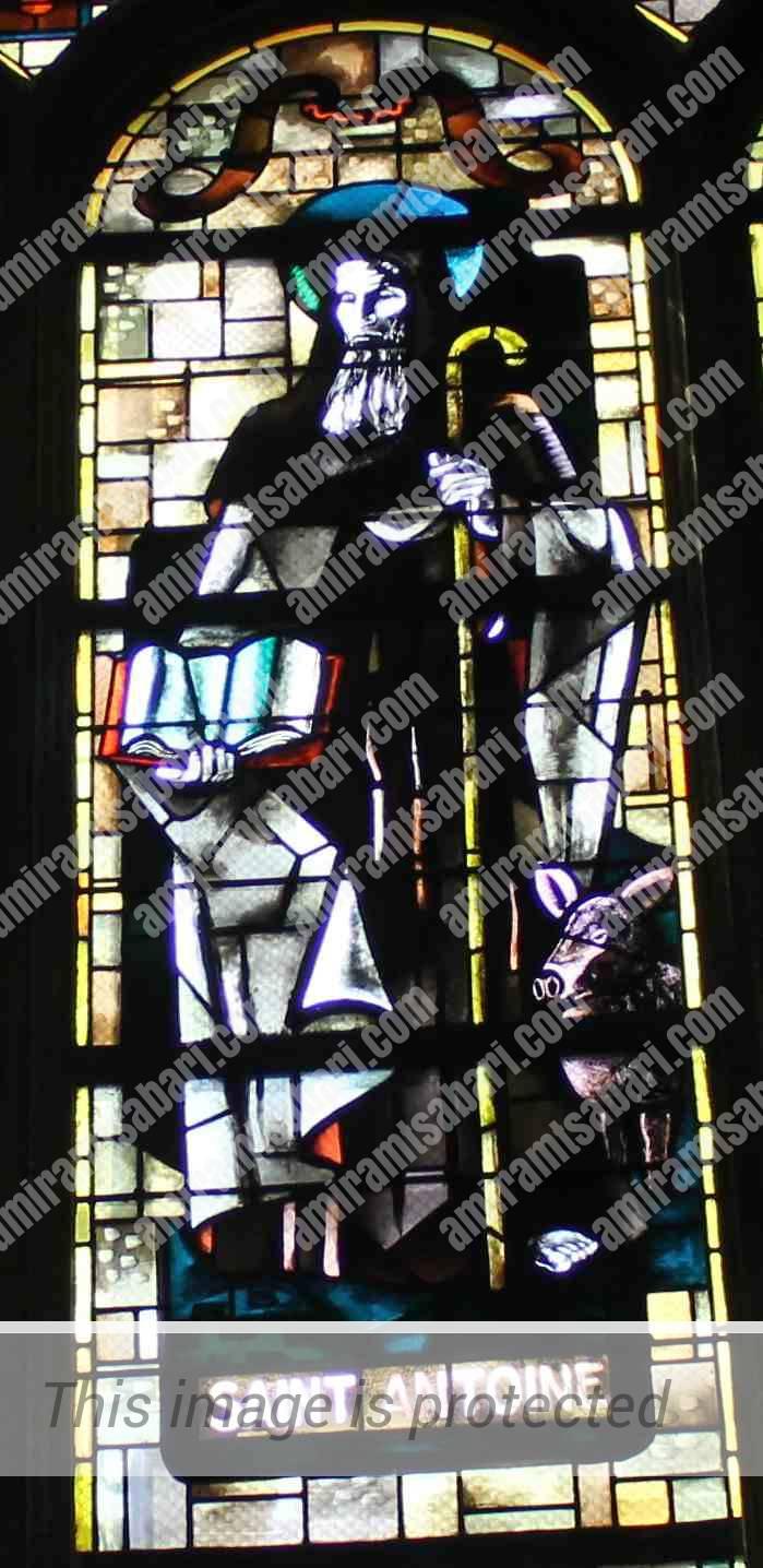 סנט אנטואן, פטרונם של קצבי השרקוטרי ובן לוויתו החזיר הצייתן.