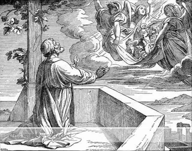 חזיונו של פטרוס על גג ביתו של שמעון הבורסקאי.